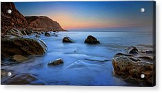 Milky Blue Acrylic Print by Mark Leader
