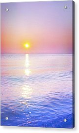 Acrylic Print featuring the photograph Milky Sunset by Lilia D
