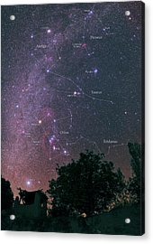 Milky Way And Constellations Acrylic Print by Babak Tafreshi