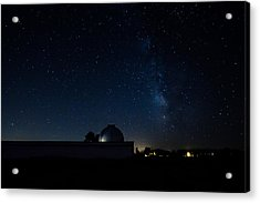 Milky Way And Observatory Acrylic Print