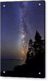 Milky Way At Acadia National Park Acrylic Print