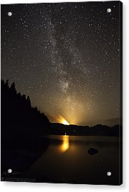 Milky Way At Crafnant 2 Acrylic Print