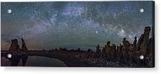 Milky Way At Mono Lake Acrylic Print by Cat Connor