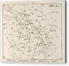 Milky Way Constellations, 1829 Acrylic Print by Science Photo Library