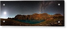 Milky Way Dreams At Columbine Lake Acrylic Print by Mike Berenson