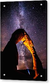 Milky Way Explorer Acrylic Print by Darren  White
