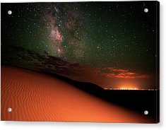 Milky Way Gold From Sand Dunes Colorado Acrylic Print