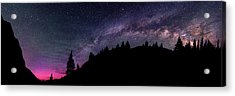Milky Way In Grizzly Valley Acrylic Print