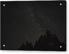 Milky Way Meteor Acrylic Print by Michael Trofimov