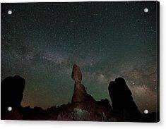 Milky Way Night Acrylic Print by Jeff Lewis