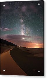 Milky Way Nightscape From Great Sand Acrylic Print