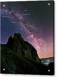 Milky Way Over Alamut Acrylic Print by Babak Tafreshi