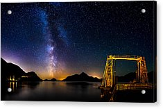 Milky Way Over Anvil Island Acrylic Print by Alexis Birkill