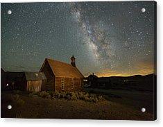 Milky Way Over Bodie Church Acrylic Print