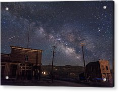 Milky Way Over Bodie Hotels Acrylic Print