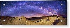 Milky Way Over Chaco Canyon Ruins Acrylic Print by Walter Pacholka, Astropics