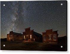 Milky Way Over Downtown Bodie Acrylic Print