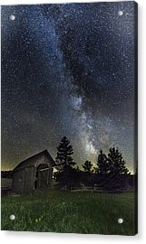 Milky Way Over Foster Covered Bridge Acrylic Print