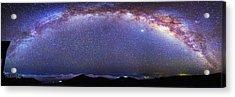 Milky Way Over Haleakala National Park Acrylic Print by Walter Pacholka, Astropics