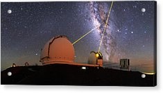 Milky Way Over Mauna Kea Observatories Acrylic Print