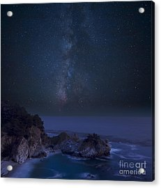 Milky Way Over Mcway Falls Acrylic Print by Keith Kapple