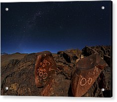 Milky Way Over Petroglyphs Acrylic Print by Babak Tafreshi