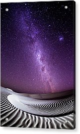 Milky Way Over Sand Dunes Acrylic Print by John White Photos