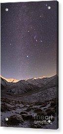 Milky Way Over Snow-covered Mountains Acrylic Print by Babak Tafreshi