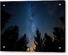 Milky Way Over The Forest Acrylic Print