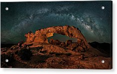 Milky Way Over The Sunset Arch Acrylic Print