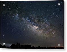 Milky Way Above The Trees Acrylic Print