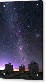 Milky Way Over Vlt Telescopes Acrylic Print by Babak Tafreshi