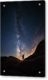 Milky Way Acrylic Print by Piriya Photography