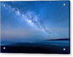 Milky Way Suspended Above Mauna Loa 1 Acrylic Print