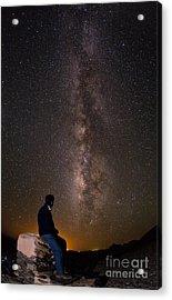 Milky Way Viewed From Ahaggar Mountains Acrylic Print by Babak Tafreshi