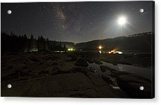 Milky-way Over Plasse's Resort - Silver Lake Acrylic Print