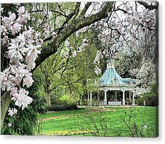 Mill Creek Park In Spring Acrylic Print by Monnie Ryan