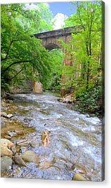 Mill Creek Viaduct Acrylic Print by Bob Jackson