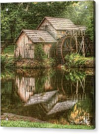 Mill On The Blue Ridge  Acrylic Print by Darren Fisher