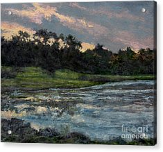 Mill Pond Reflection Acrylic Print by Gregory Arnett