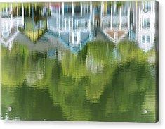 Mill Pond Reflects Extravagant Colour Acrylic Print by Robert L. Potts