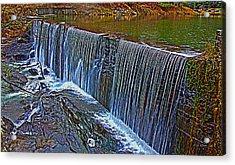 Mill Pond Spillover  Acrylic Print by Tom Culver