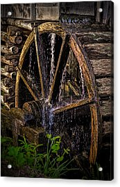 Mill Wheel Acrylic Print by Dave Bosse