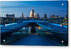 Millenium Bridge Blue Hour II Acrylic Print