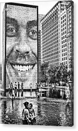 Millenium Park Smile Acrylic Print by Robert  FERD Frank