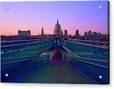 Millenium Thames Bridges  Acrylic Print by David French