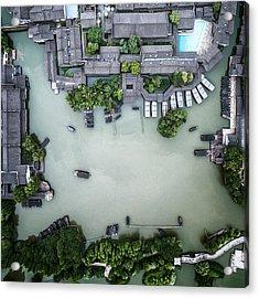 Millennium Ancient Town Acrylic Print by Zhou Chengzhou