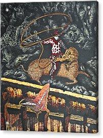 Millennium  Cowboy Acrylic Print by Larry Butterworth