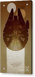 Millennium Falcon Acrylic Print by Baltzgar