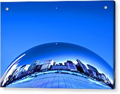 Acrylic Print featuring the photograph Millennium Moonrise  by Adam Olsen